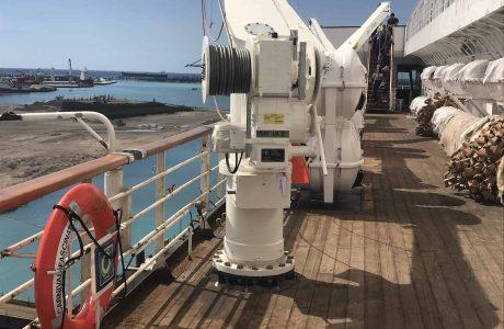 LSA Life Raft Crane Installation.